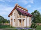 Одноэтажный жилой дом с мансардой и балконом